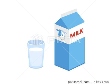 우유의 일러스트 71654700