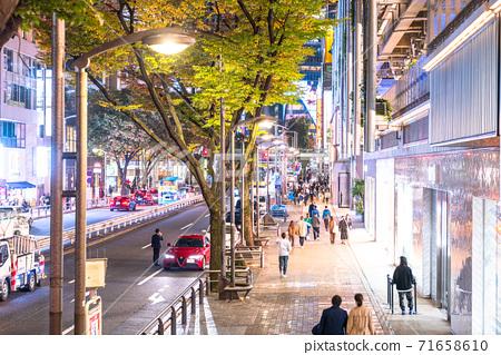 《東京》澀谷/購物區之夜 71658610