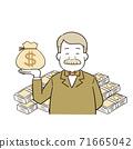 有钱人与美元货币 71665042