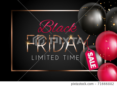 Black Friday Sale Banner Template. Vector Illustration 71666882