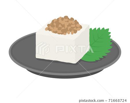 納豆豆腐的插圖 71668724