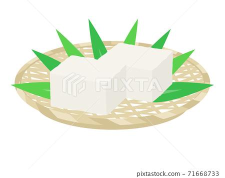 豆腐上漏勺的插圖 71668733