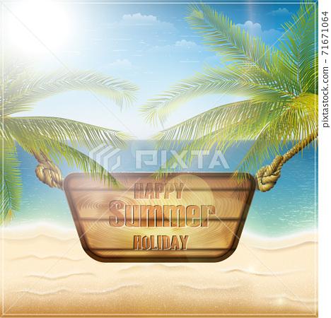 Happy summer holiday card 71671064
