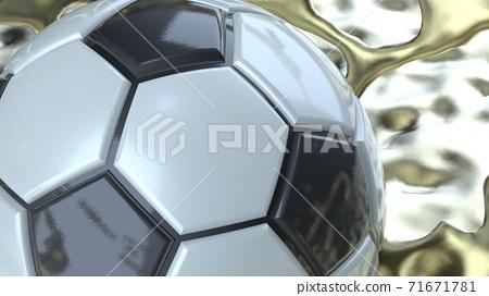축구 공 농구 3D 일러스트 71671781