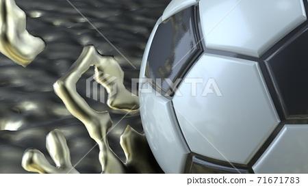 축구 공 농구 3D 일러스트 71671783