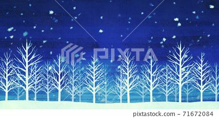 설경의 숲 겨울 배경 71672084