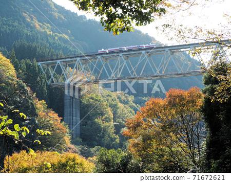 타카 치호 철교와 아마테라스 철도 그랜드 슈퍼 장바구니 71672621
