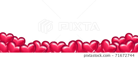 情人節那天背景,心形巧克力。簡單的白色背景 71672744