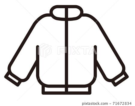 방한복 간단한 아이콘 / 흑백 71672834