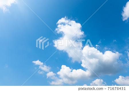 藍天天空背景背景材料 71678431