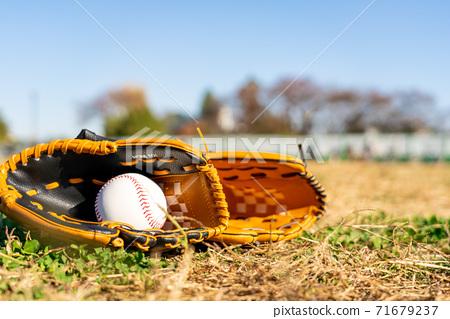 Baseball gloves and balls 71679237