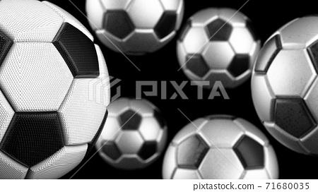 농구 축구 공 3D 일러스트 71680035