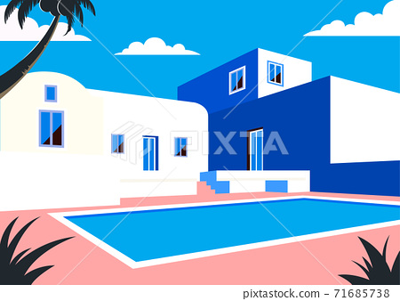 Vivid colorful summer background illustration 008 71685738