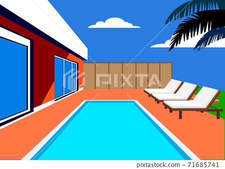 Vivid colorful summer background illustration 005 71685741