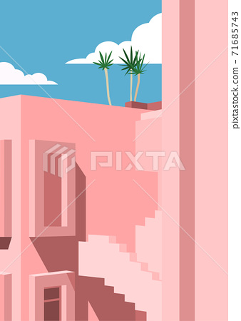 Vivid colorful summer background illustration 009 71685743