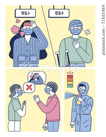 COVID virus prevention concept illustration 006 71685964