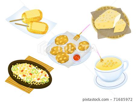 Set of korean food flat design illustration 001 71685972
