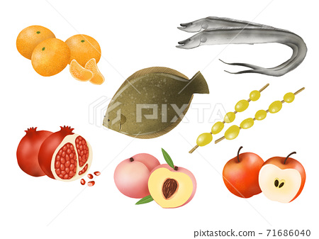 Set of fresh food source flat design illustration 006 71686040