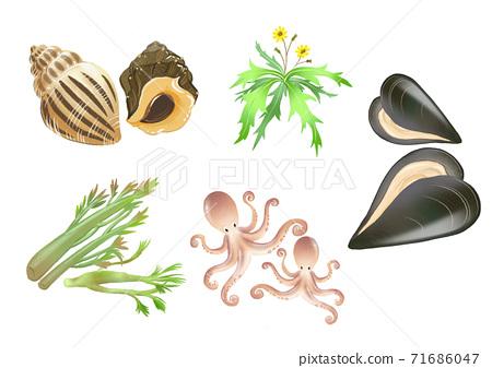 Set of fresh food source flat design illustration 003 71686047