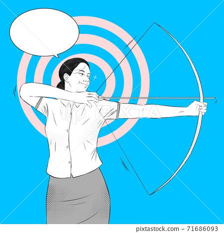 Comic book style cartoon with speech bubble illustration 008 71686093