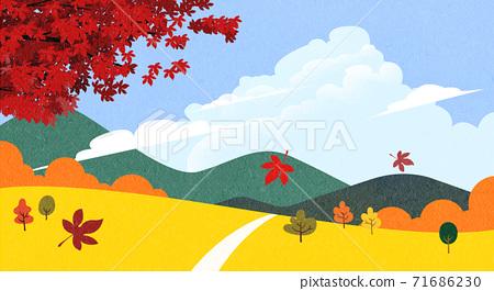 Beautiful autumn landscape 002 71686230