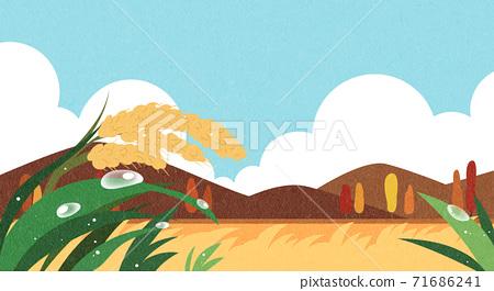 Beautiful autumn landscape 007 71686241