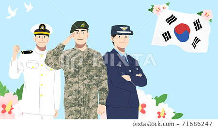 Korean Memorial Day illustration 011 71686247