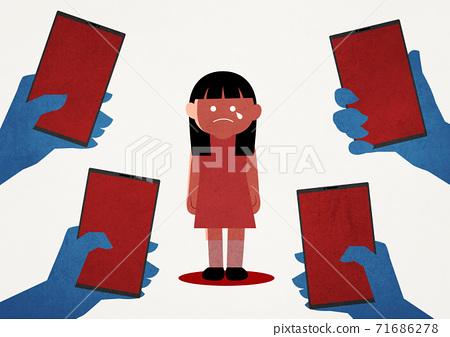Online predator concept, cyber criminals illustration 008 71686278