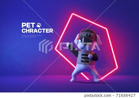 3D cute pet character cartoon 003 71686427