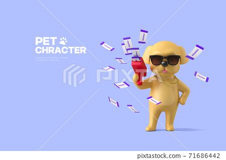 3D cute pet character cartoon 011 71686442