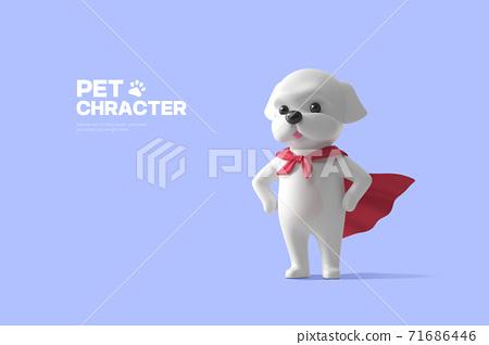 3D cute pet character cartoon 014 71686446