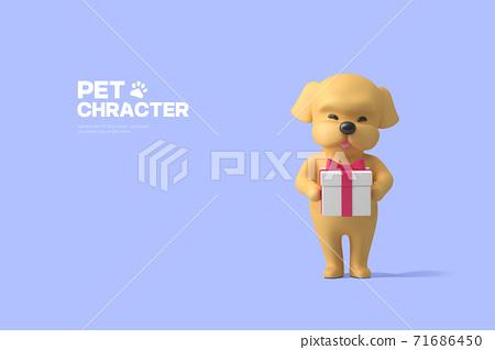 3D cute pet character cartoon 015 71686450