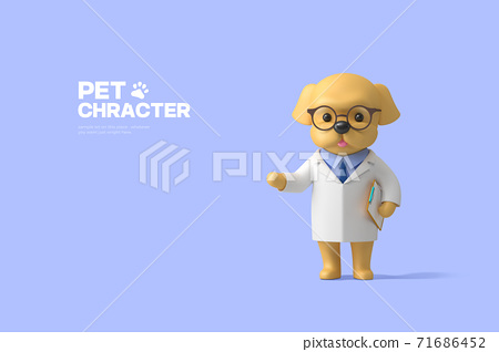 3D cute pet character cartoon 016 71686452