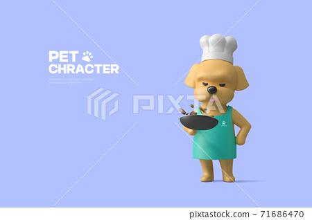 3D cute pet character cartoon 025 71686470