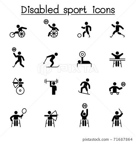 Disabled sport icons set vector illustration graphic design 71687864