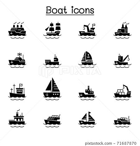 Boat icons vector illustration graphic design 71687870