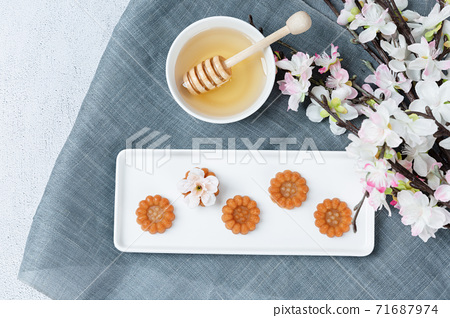 Different foods ingredients of Korean Thanksgiving day 104 71687974