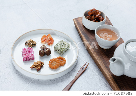 Different foods ingredients of Korean Thanksgiving day 119 71687988