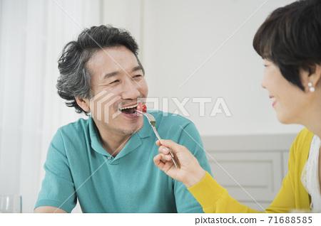 Happiness people lifestyle, Asian senior couple 036 71688585