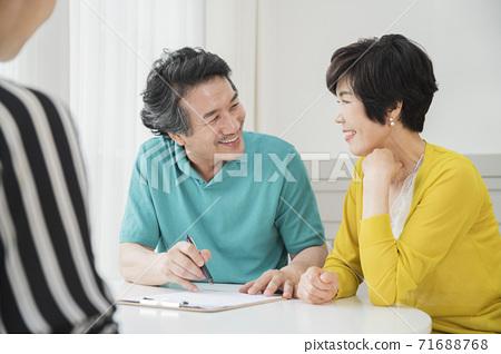 Happiness people lifestyle, Asian senior couple 116 71688768