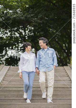 Happiness people lifestyle, Asian senior couple 179 71688935