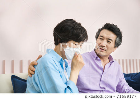 Happiness people lifestyle, Asian senior couple 278 71689177