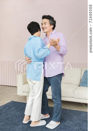 Happiness people lifestyle, Asian senior couple 333 71689308