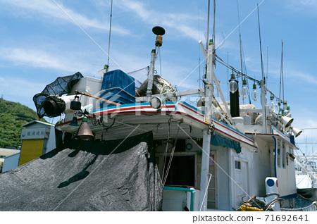 港口 漁船 海景 夏天 71692641