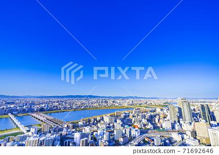 오사카 키타 도시 경관 71692646