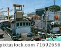 港口 漁船 海景 夏天 71692656