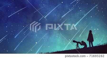 觀測天文恆星流星群的人 71693282