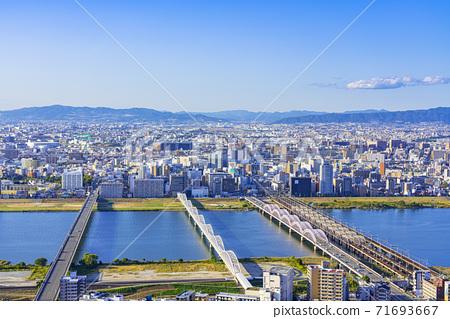 오사카 키타 도시 경관 71693667
