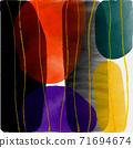 抽象的水彩背景和幾何插畫 71694674