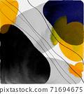 抽象的水彩背景和幾何插畫 71694675
